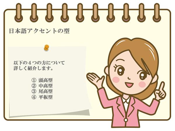 日本語アクセントの法則@頭高型・中高型・尾高型・平板型